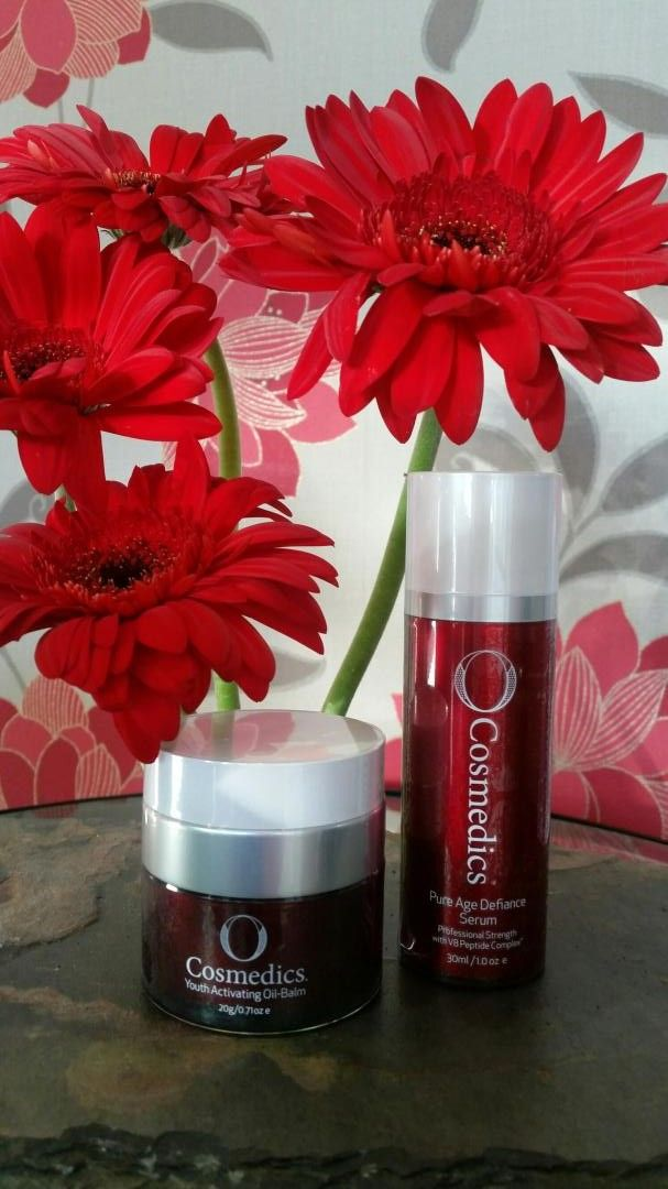 Our Favourites Youth Activating oil balm and Pure Age defiance serum from O Cosmedics available at In Therapy.