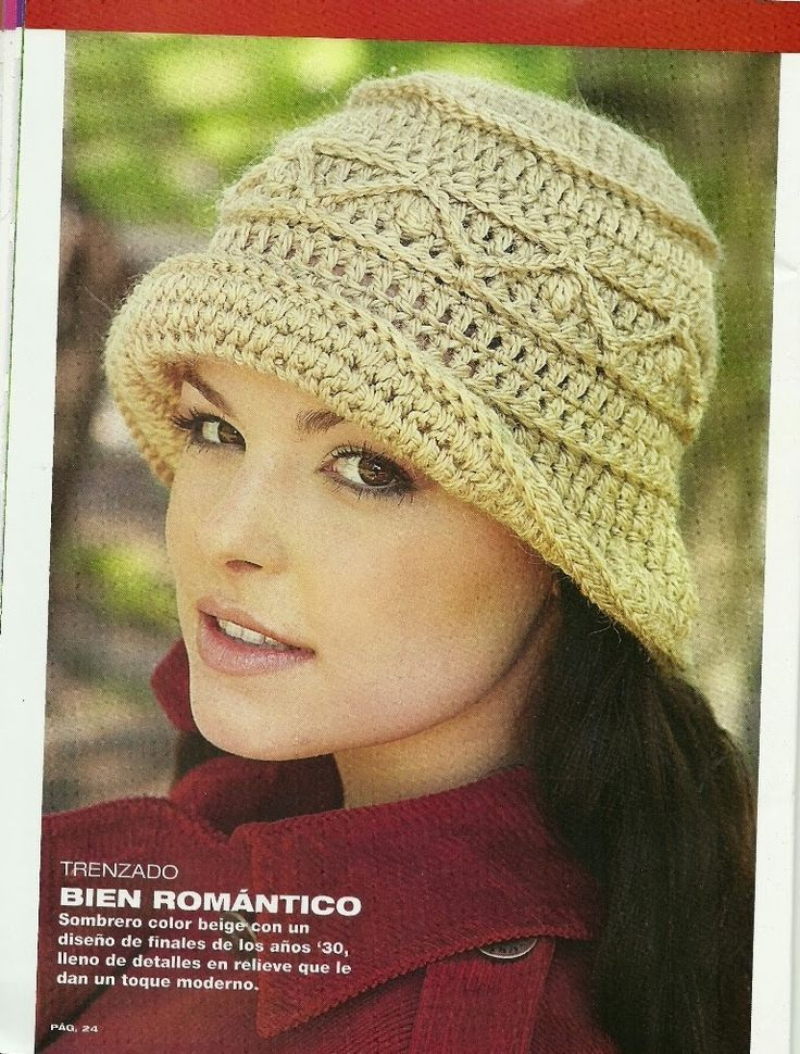 73 best Gorros crochet images on Pinterest | Gorros crochet, Mitones ...