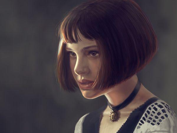 Natali Portman as Matilda from Leon movie by kira shakhoval