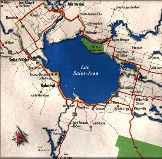 Canada - Carte Lac St Jean