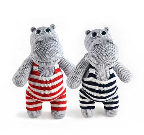 Henry the Hippo amigurumi pattern by Kamlin Patterns ...