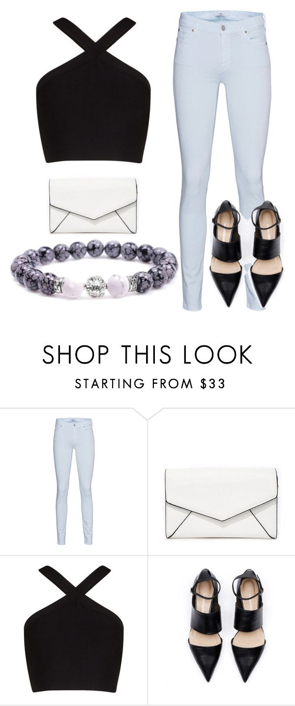 """""""Summer night outfit  - Nyári esti öltözet"""" by tunderkomod on Polyvore featuring 7 For All Mankind, LULUS and BCBGMAXAZRIA"""