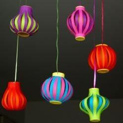Créez avec votre enfant de magnifiques lampions pour décorer sa fête d'anniversaire ! Trop facile avec le gabarit de C-MonEtiquette !