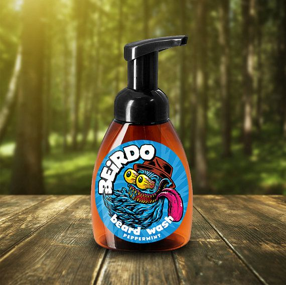 Peppermint scented beard wash. BEIRDO Beard Wash has an eye-popping, refreshing, peppermint scent to awaken the senses and clean your beard without stripping the hair's natural oils.
