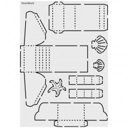 "Design-Schablone Nr. 5 ""Strandkorb"", Din A4"