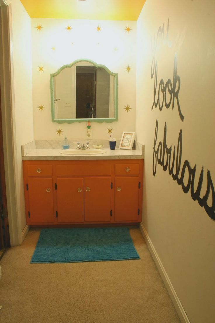 Thoughts on working with what you have- painting your existing vanity.