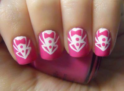 Holy Manicures: Hot Pink Tuxedo Nails.