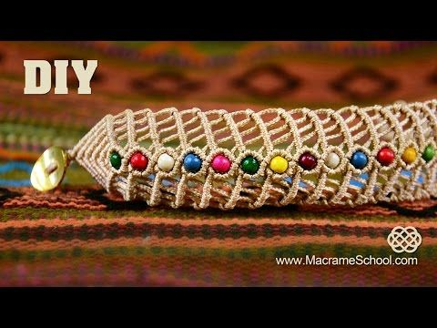 pulseras de hilo anchas  faciles de hacer - YouTube