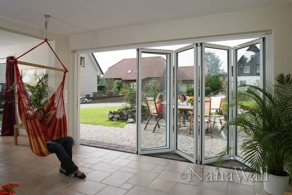 Sleeping Hammock In An Indoor Outdoor E With Sliding Gl Doors From Nanawall Inspiration Door