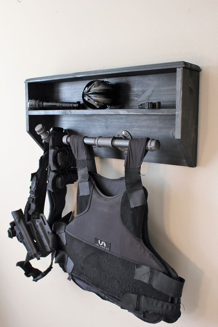 wall mounted duty and tactical gear rack small etsy on wall mount id=98983