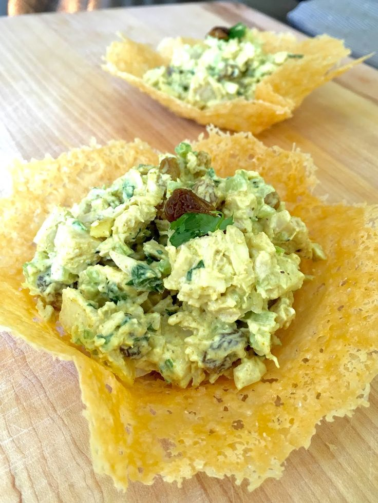 Pioneer Woman's Curried Chicken Salad on Parmesan Crisps    I have my favorite chicken salad that I have been making for years.  I post...