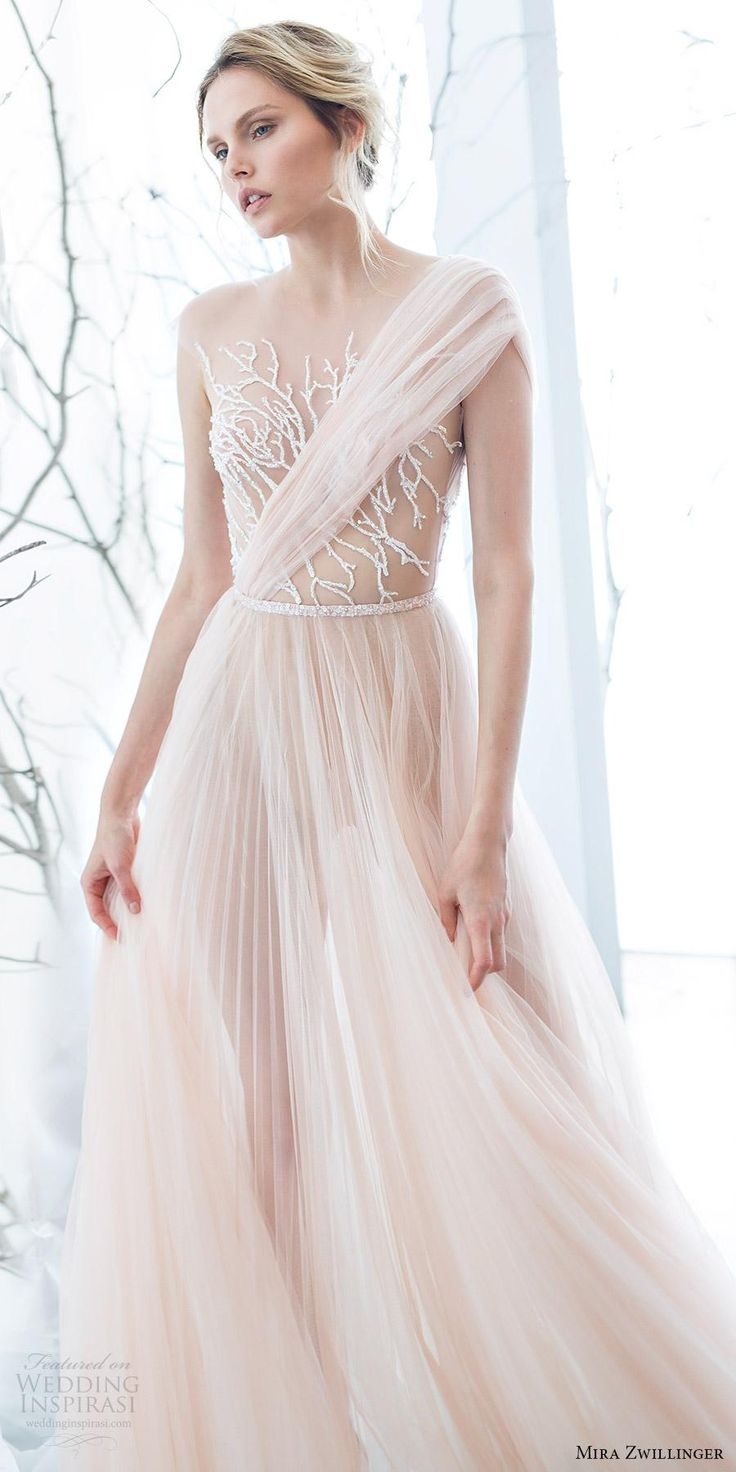 Sheer Neck 2017 Beach Wedding Dresses Beaded A Line Tulle Bridal Dresses See Through Sexy Wedding Gowns Ball Gowns Debenhams Dresses From Weddingmall, $112.57| Dhgate.Com