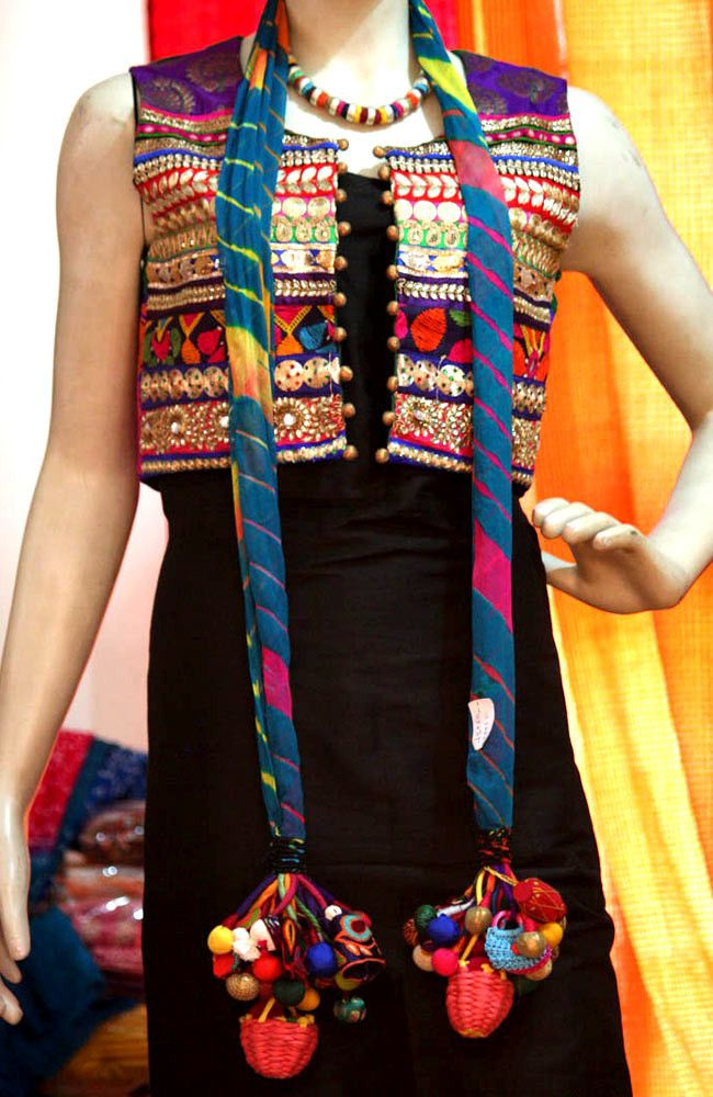 Designer Heavy Kutch Work Jacket | India1001.com