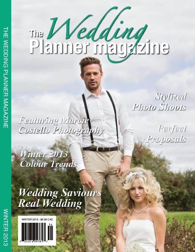 Published - The Wedding planner magazine GTA.  Accessories by Talia made the cover for the second season in a row!  Custom headband and pearl necklace shown on cover.
