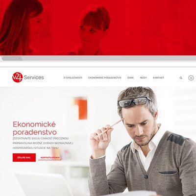 Nové logo, webdesign a image poradenskú spoločnosť v2J Services