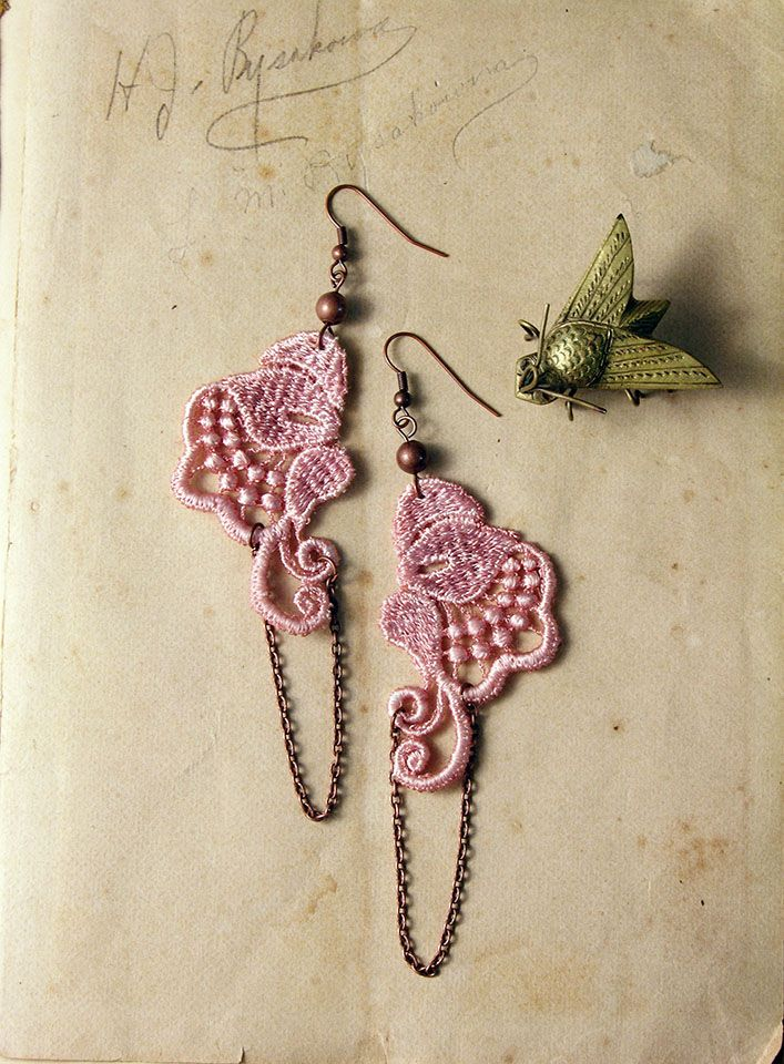 Marcelle lace earrings by White Owl #lace #jewelry #fashion #wedding