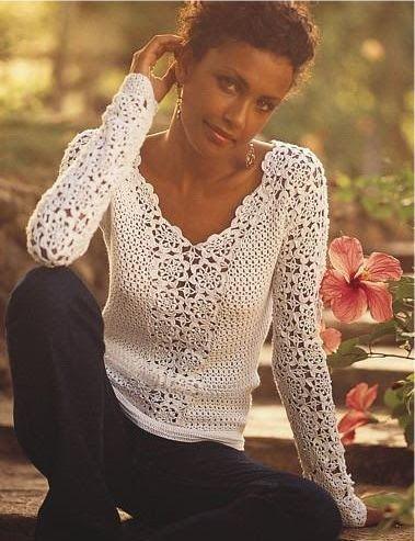 Blusa a crochet JOHANNA BETTY