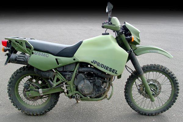 Kawasaki KLR650-based diesel motorcycles for the US Army
