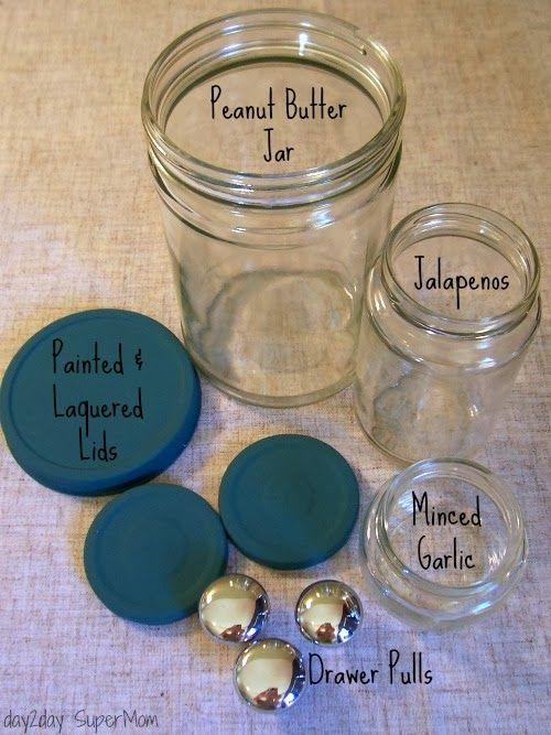 3 Popular Pinterest Projects: My Bathroom Decor ~ DIY Friday ~ Faux Apothecary Jars