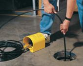 Drain Cleaner - This product uses a jet spray nozzle attached to a pressure washer along with a special hose, as well as a covered pedal for operating hands-free.
