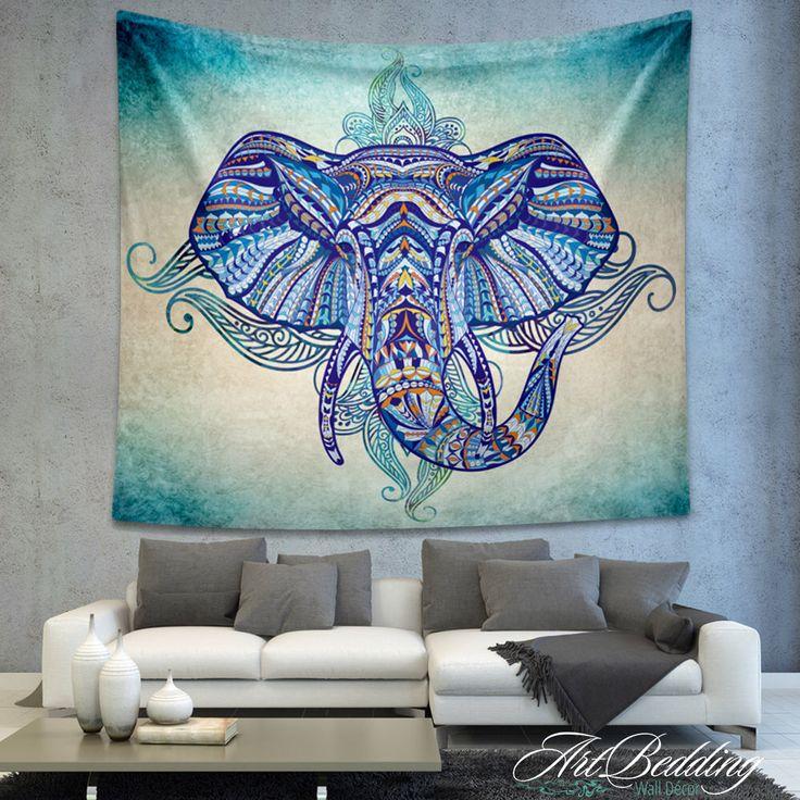Bohemian Tapestry, Elephant wall tapestry, Hippie tapestry wall hanging, bohemian wall tapestries, Boho tapestries, Ethnic bohemian decor by ArtBedding on Etsy https://www.etsy.com/listing/251486601/bohemian-tapestry-elephant-wall-tapestry