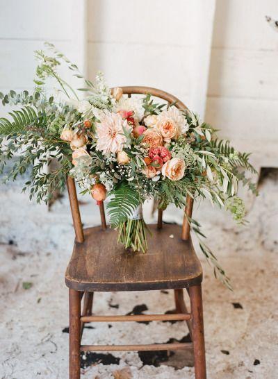Absolutely gorgeous bouquet: http://www.stylemepretty.com/little-black-book-blog/2015/04/22/peach-rustic-boho-wedding-inspiration/ | Photography: Maraluce - http://www.maraluce.com/