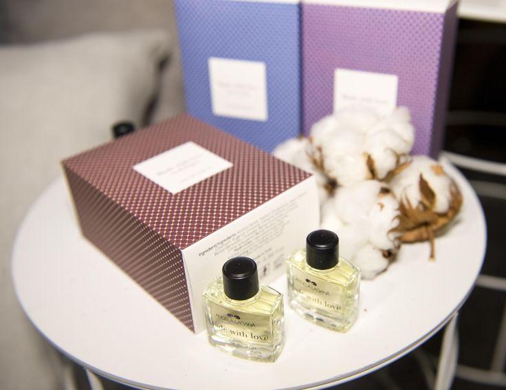 La nuova linea di profumi Made With Love di Angela Laganà in mostra a Esxence 2015.