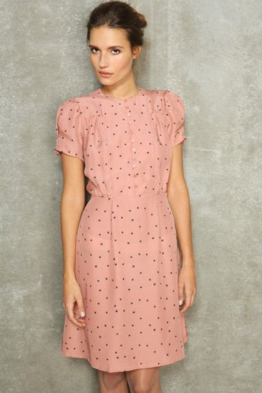 Sessun Printed Silk Tea Dress