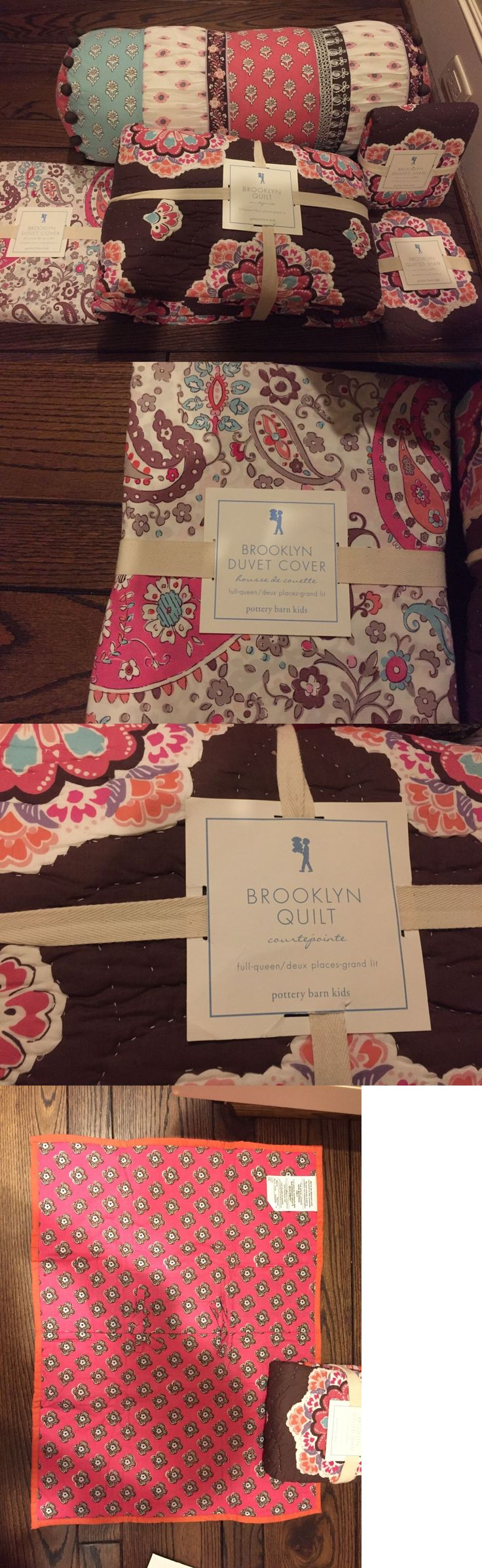 Kids Bedding: Pottery Barn Kids Brooklyn Paisley Bedding Set Full Queen Quilt Shams Duvet New -> BUY IT NOW ONLY: $215.0 on eBay!