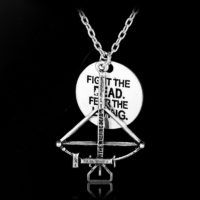 The Walking Dead necklace Alloy Fighting the death Fear the living pendant jewelry with chain //Price: $7.95 & FREE Shipping //     #twd