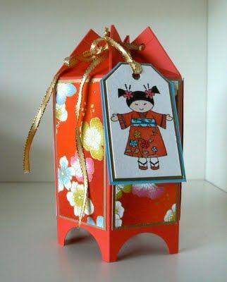Six-sided box using Mini Milk Carton die