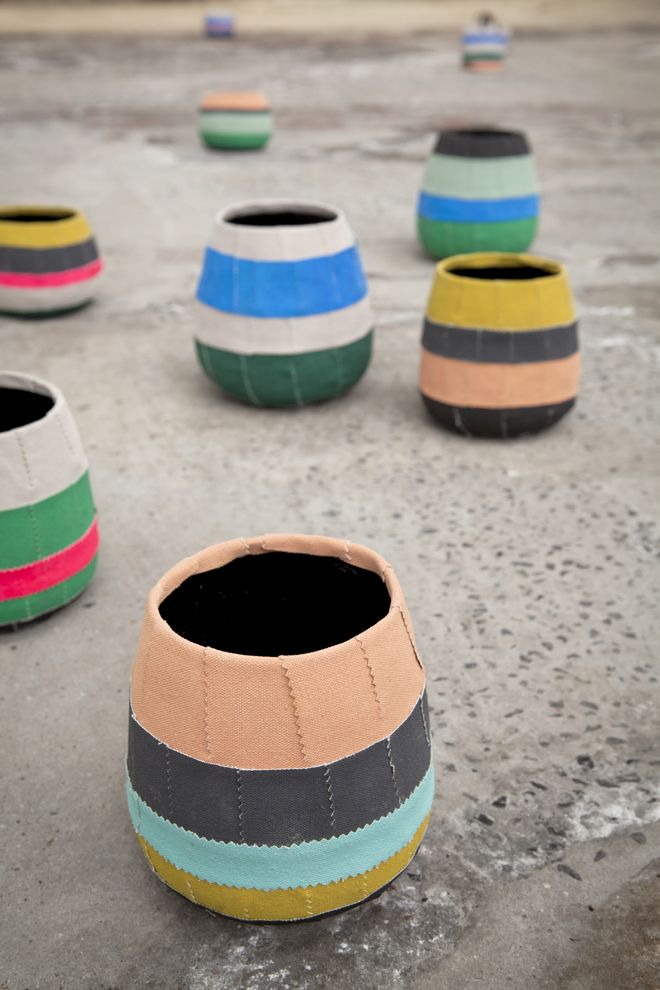 textile planters by Serax