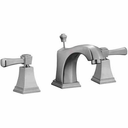 Design House 522052 Torino Wide Spread Lavatory Faucet, Satin Nickel Finish, Gray