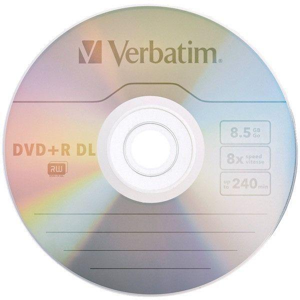 verbatim - 8.5gb 8x branded azo dvd+r dls, 5 pack