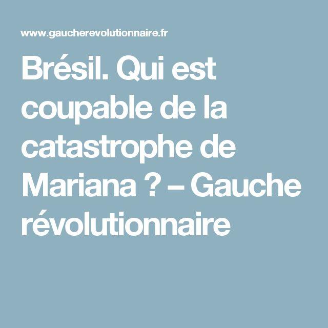 Brésil. Qui est coupable de la catastrophe de Mariana ? – Gauche révolutionnaire