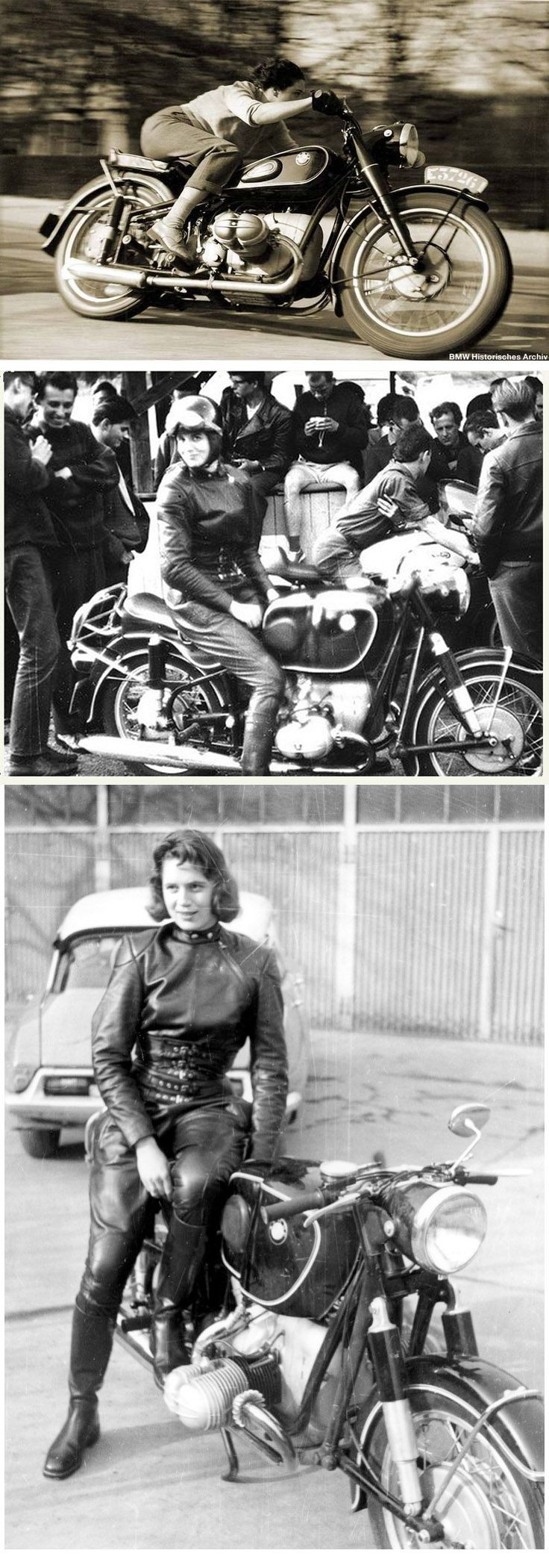 "Marianne Weber, a Journalist from Belgium, tested the R68 for the French magazine ""MOTORCYCLE"" (issue 81/August 18, 1952) and achieved a top speed of more than 160 km/h and gave the proof that the R68 was a real 100-mph racing-bike. The photos were made by ""R.G. Everts"" in April 1952. Marianne Weber later achieved 162.895 km/h (101.24 mph) in 1954"