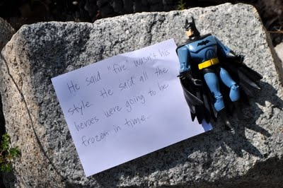Superhero Scavenger Hunt :) what a cute idea! could work with anything too, not just superheros. Great for kids' parties