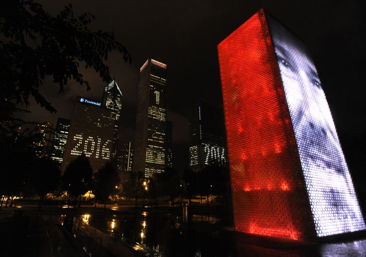 <div class='meta'><div class='origin-logo' data-origin='none'></div><span class='caption-text' data-credit='AP Photo/Paul Beaty'>Buildings behind Millennium Park promote Chicago's bid for the Olympic Games in 2016 in Chicago, Thursday, Oct. 1, 2009.</span></div>