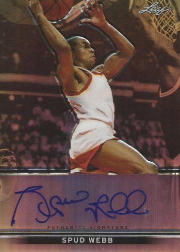 Spud Webb Auto Autograph /50 2012-13 Leaf Metal Basketball Holo Parallel