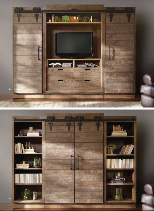 Book shelf & hide the TV Driftwood / Reclaimed look