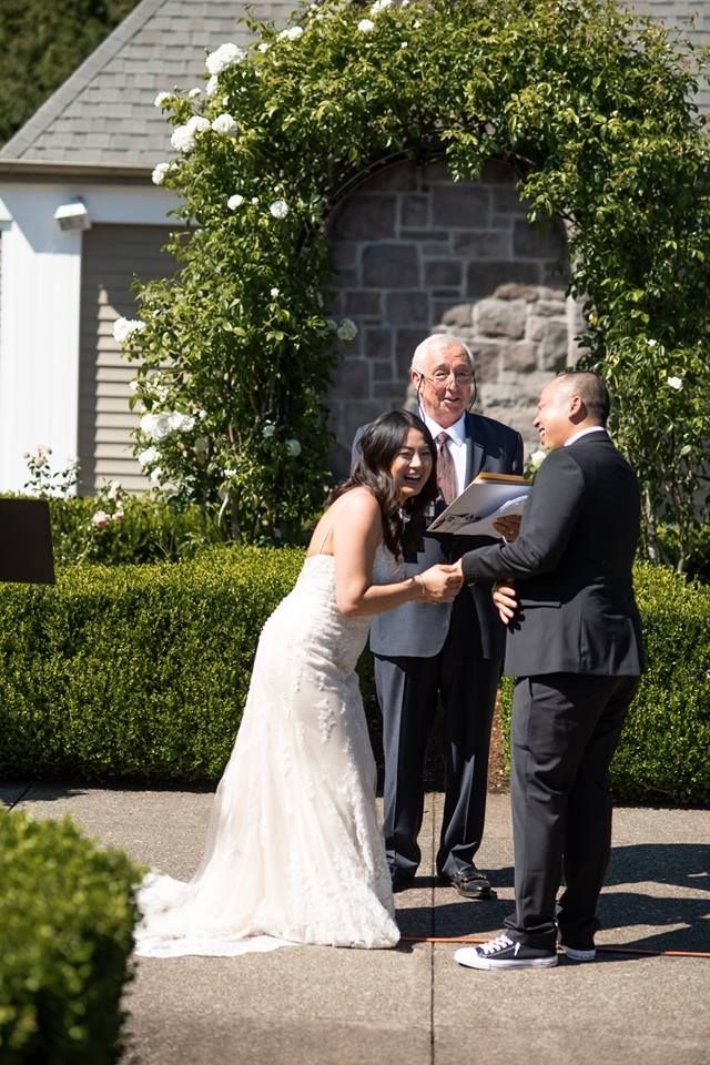 I Love My Clients Thanks To Leslie And Sarn For Having Me As Their Officiant On July 28 2018 At The Oregon Golf C Wedding Minister Wedding Officiant Wedding