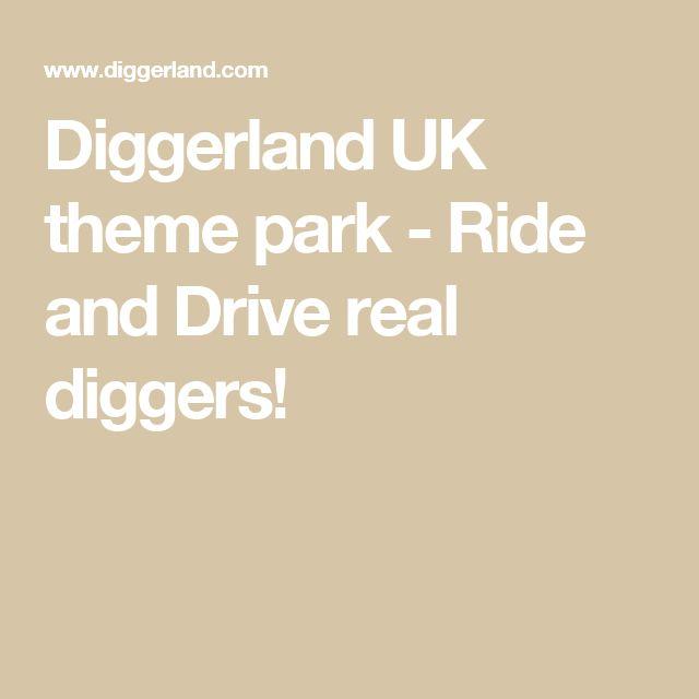 Diggerland UK theme park - Ride and Drive real diggers!