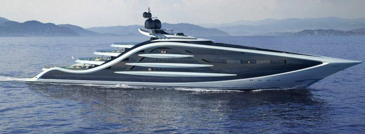 This $667 Million Concept Superyacht Has More Curves Than Sofia Vergara PLUS A Helipad - http://viralfeels.com/this-667-million-concept-superyacht-has-more-curves-than-sofia-vergara-plus-a-helipad/