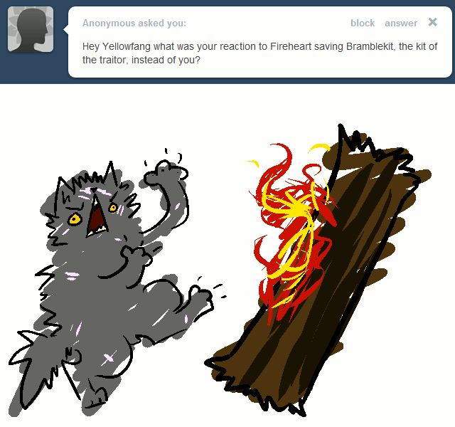 Warrior Cats Dawn Of The Clans Fanart: Lol Only Warrior Cat Fans Will Get This Gif