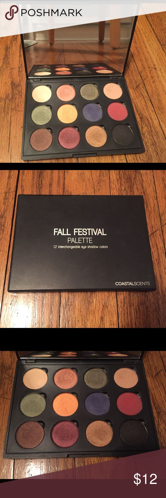 Coastal Scents Fall Festival Palette Used two times. All colors have been swatched but are in great condition. •Always open to offers• Coastal Scents Makeup Eyeshadow