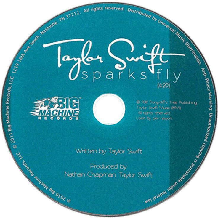 Caratula Cd de Taylor Swift - Sparks Fly (Cd Single)