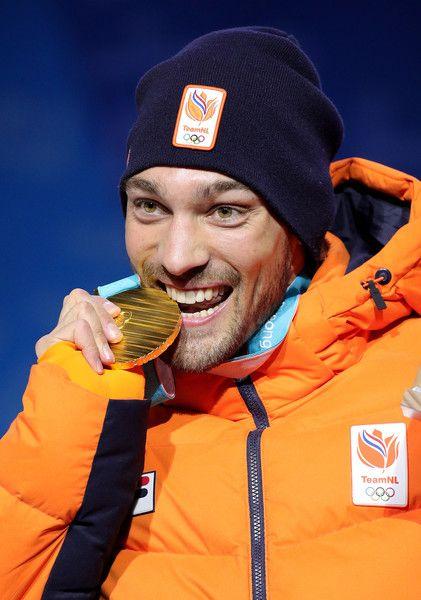 SPEED SKATING MEN'S 1500m: Gold medalist Kjeld Nuis of the Netherlands