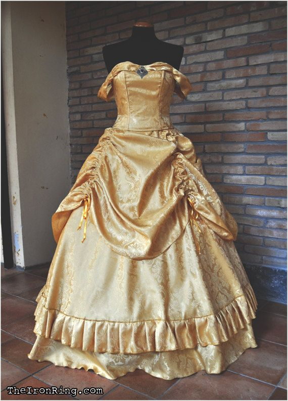 Beauty And The Beast Inspired Wedding Dress: Princess Belle Ball Victorian Evening Dress, Inspired By