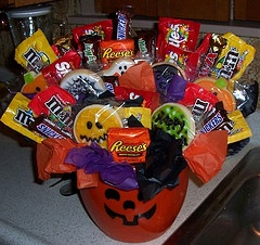 Halloween cookie & Candy bouquet