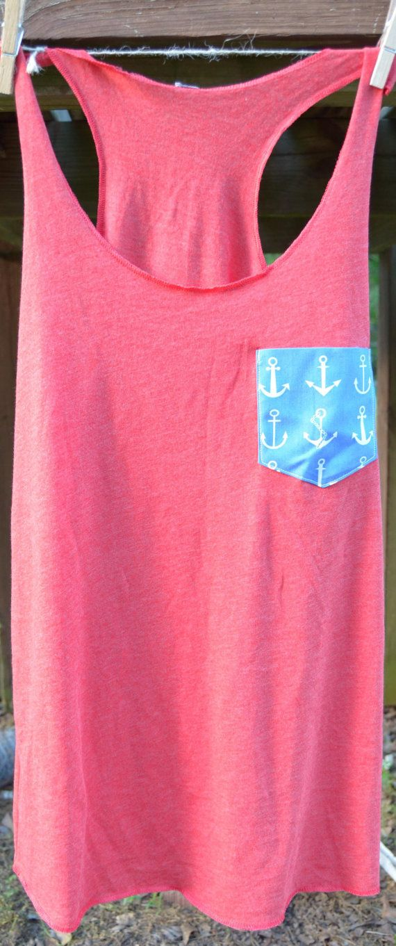 2 Day Sale Only Monogrammed Anchor Tank Top by uniquemonogramming, $12.00